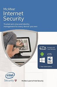 DOWNLOAD McAfee Internet Security 2019 Unlimited Users 12 Month Latest Update  731944688268