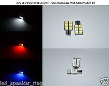 2pc X Volkswagen MK6 MKVI GTI GOLF FOOTWELL LED Light - NEW Design Footwell LEDs