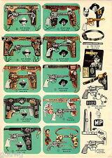 1956 ADVERT 3 PG Toy Play Guns Dragnet Riot Cap Gun Buck Rogers Super Sonic Ray