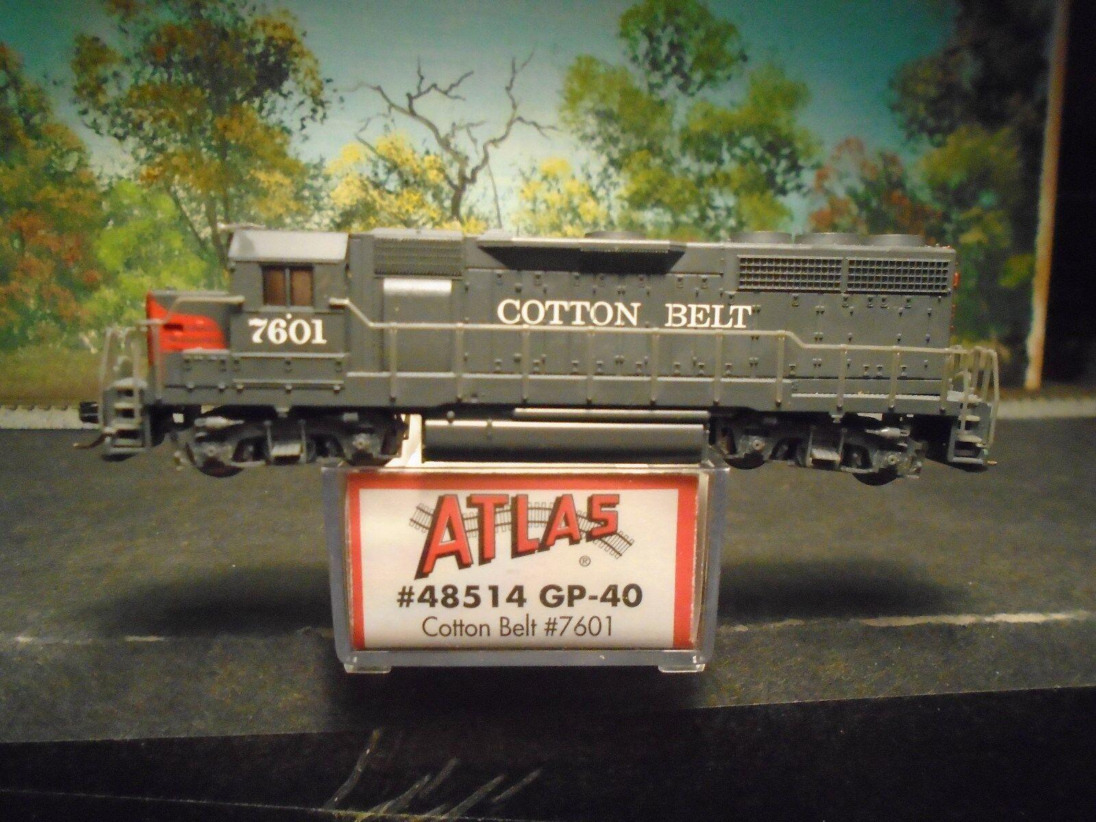 ATLAS N SCALE  48514 GP-40 COTTON BELT  7601