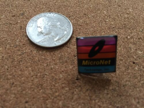 Apple Macintosh MicroNet Technology Inc Lapel Pin
