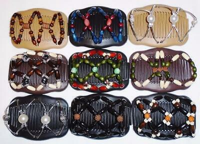 "African Butterfly Style Angel Wings Hair Clips 4x3.5/"" Quality S21 Magic Combs"