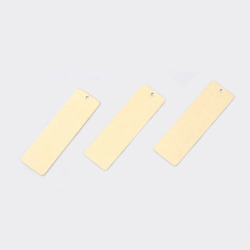 20Pcs Raw Brass Rectangle Charms Pendants for Jewelry Crafts Earring Making 36mm
