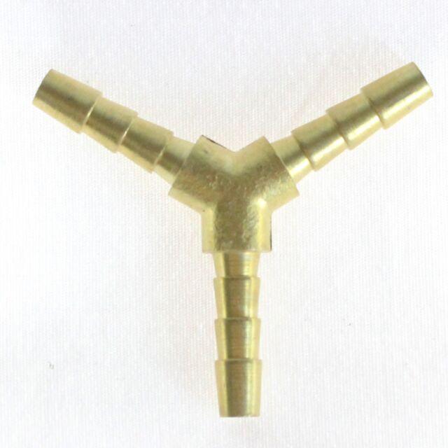"""1pc Brass Barb Y Wye Splitter Fitting 3//16/"""" ID Hose Fuel Oxygen MettleAir 127-3"""