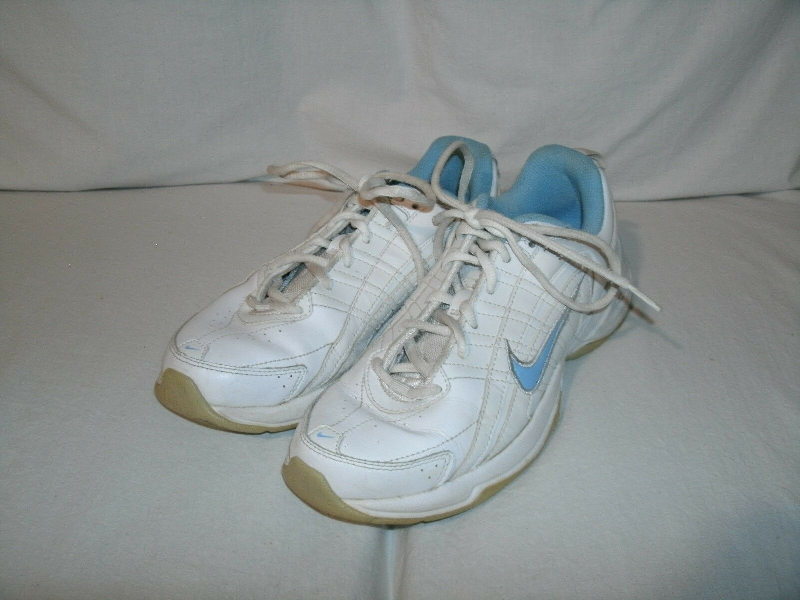 NIKE AIR Women's Running Trail Athletic Shoes White Blue 386508-141 sz 7.5