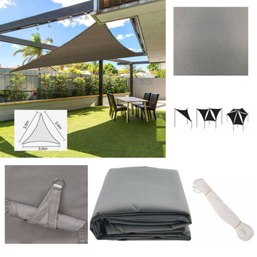 NEW Sunscreen Shade Sail Canopy Patio Awning UV-resistant Waterproof Grey//Beige