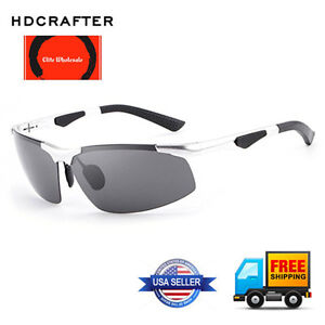 2284a315f7 Image is loading HDCRAFTER-HD3009-Rimless-Polarized-Cycling-Driving- Sunglasses
