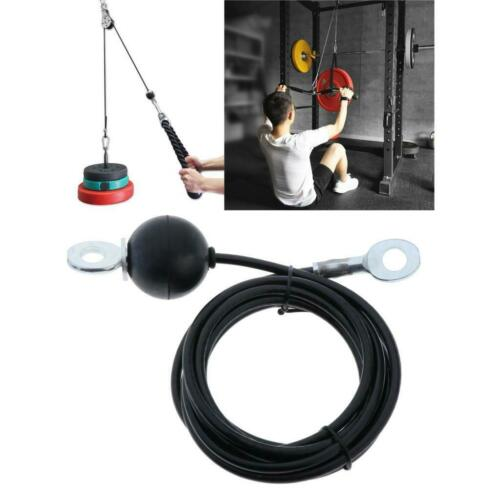 Pulley LAT Pulldown Machine Cable Replacement Cable Biceps Triceps Roller Rope