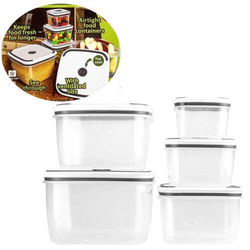 Keraiz hermétique Conteneurs Plastique Stockage des aliments Boîte Déjeuner Réutilisable Set10PC