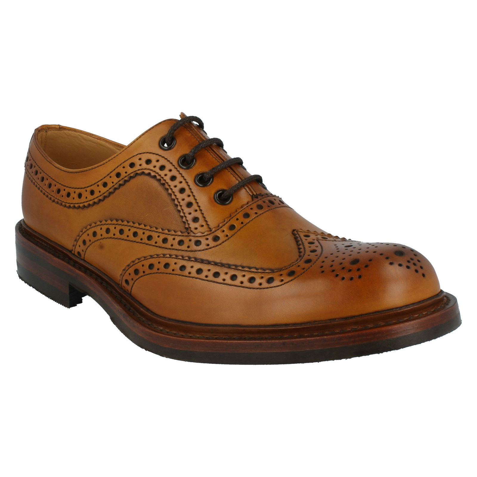 Edward Uomo LOAKE marrone vitello brunito in pelle di vitello marrone con lacci calzata G b36f2d