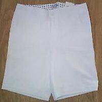 Ladies Ashworth White Golf Shorts Size Us6 Uk12 Wms60015
