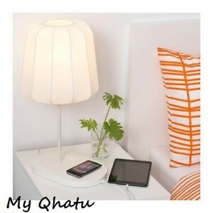 IKEA VARV White 09 Details 702 with Table charging Discontinued wireless 807 lamp about NEW xtdrCshQB