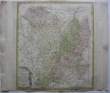 Görlitz Oberlausitz Schlesien Polen kolor Kupferstichkarte Homann 1753