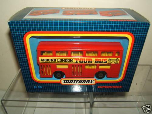 MATCHBOX SUPER KINGS MODEL No.15 DAIMLER LONDON TOUR BUS  MIB