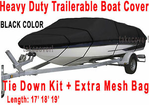 Crestliner-Fish-Hawk-1750-Trailerable-Boat-Cover-B2001-Black-Color