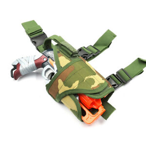 Tactical Multi Holster Nylon Fabric Pouch for Nerf HammerShot Double Strike Toy