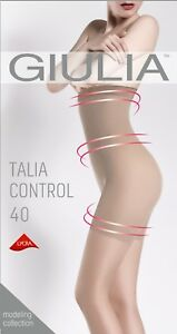 Giulia-Talia-Control-High-Waist-40-Denier-Semi-Opaque-Tights-Silicone-Band