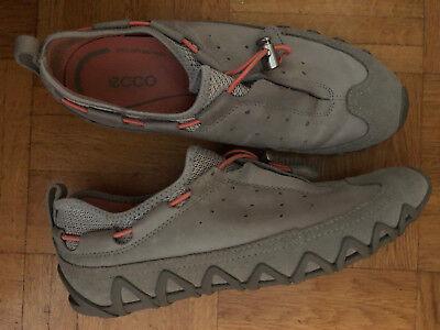 ECCO Damen Schuhe Halbschuhe Sneaker Leder Sportschuhe Beigegrau Gr.38 sehr gut