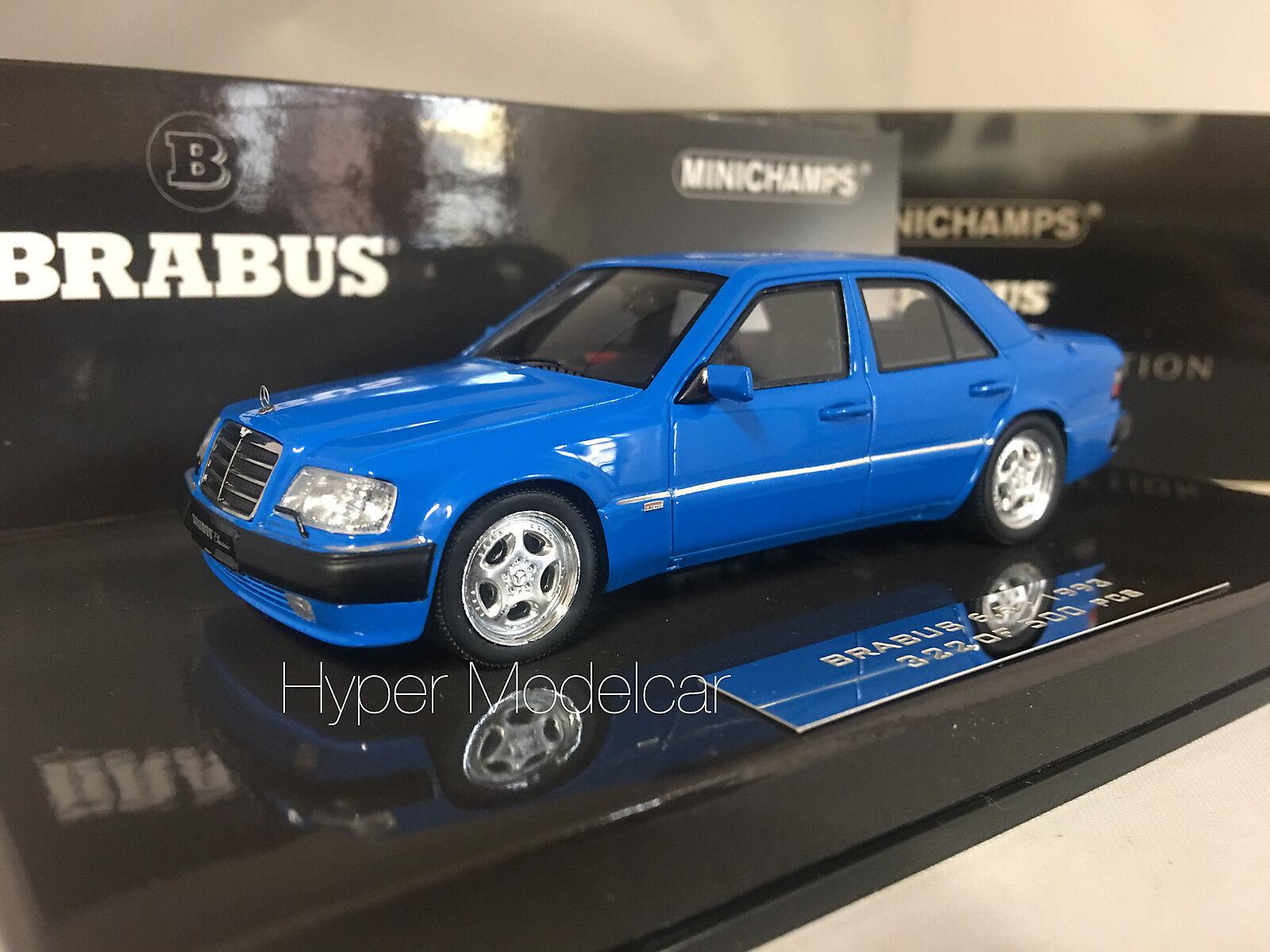 Minichamps 1   43 mercedes - benz - 6,5 500e brabus (w124) 1993 blau 437032502