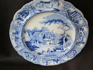 S38-antique-staffordshire-pottery-transfer-ware-light-blue-scenic-estate-people