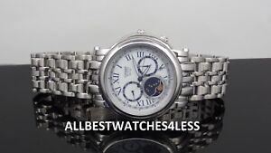 Citizen-AP1011-58A-Moon-Phase-Silver-Tone-8651-Calibre-Eco-Drive-Men-039-s-Watch