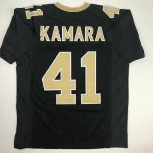 New ALVIN KAMARA New Orleans Black Custom Stitched Football Jersey ... 78bada159