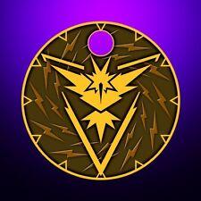 Pokemon Go Team Instinct Yellow Zapdos Pathtag Coin Geocoin Alt