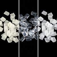 1000×salon False Acrylic Toe Nail Art Tips White/clear/natural Full Cover