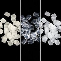 1000×salon False Acrylic Toe Nail Art Tips White/clear/natural Full Cover