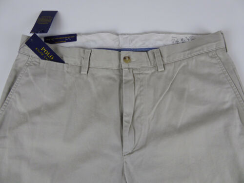 Polo Ralph Lauren Flat Front Cotton Chino Khaki Twill Pants NWT Classic Fit  $85