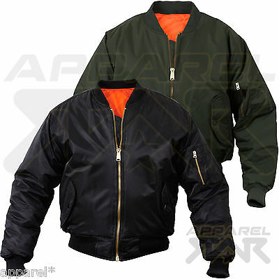 Genuine MA1 Mens Army Pilot Biker Bomber Fly Military Security Harrington Jacket