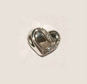 abf9d63b3 Genuine PANDORA Ribbon of Love Heart Charm 791816CZ FREE DELIVERY | eBay
