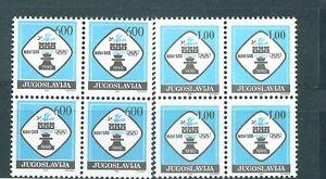Yugoslavia, 1990, Chess Olympiad,  2 blocks of 4