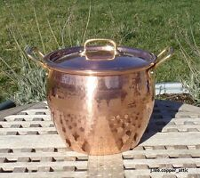 Ruffoni Hammered Copper 4.75 Qt Stock Pot w/ tin lining, Made in Italy