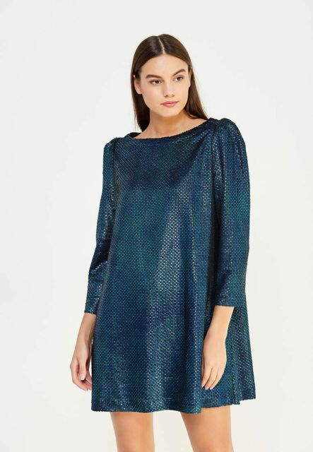 Blue Dress with Diamonds