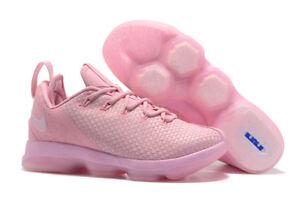 0cd7203bc6066 NEW Nike Lebron XIV 14 Lows Mens Size 12.5 Prism Pink 878636-600 ...