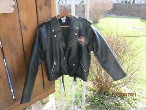 Womens-Original-Harley-Davidson-Coat-Size-Large-16-18-Simulated-Leather