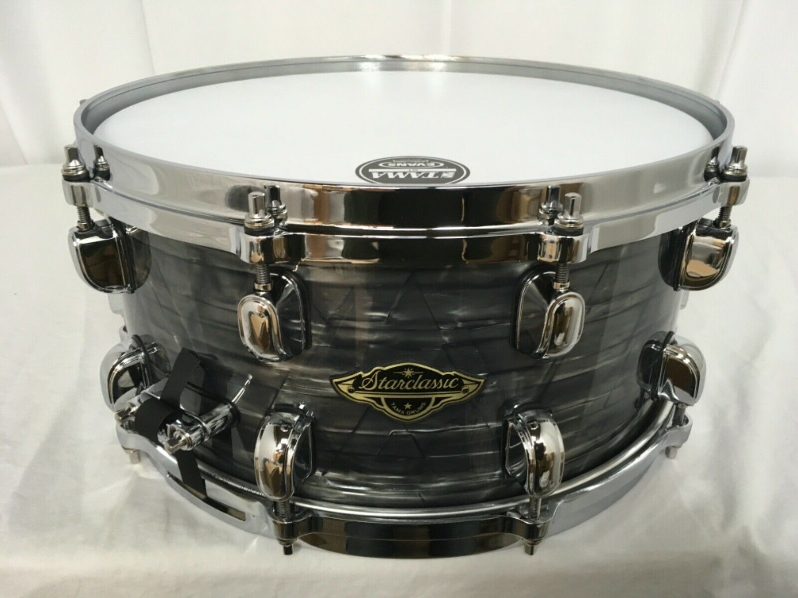 Tama Starclassic Walnut Birch 13  Dia. X 6  Deep Snare Drum Charcoal Onyx New
