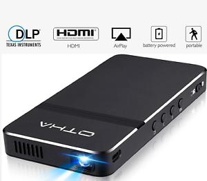 Pico Mini Projecteur Portable 1080P HD DLP LED 50 Ansi Lumens Wi-Fi HDMI USB