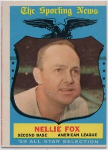 1959 Topps #556 Nellie Fox VG-VGEX+ Chicago White Sox FREE SHIPPING