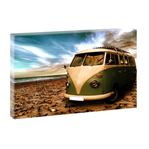 VW Bulli Bild auf Leinwand Keilrahmen Poster Wandbild XXL 120 cm*80 cm 515