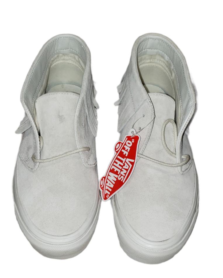 Vans Daim Mocassin Frange Naturel Crème Ivoire Chaussures De Skate Femme 8.5 US