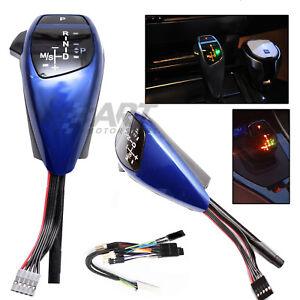 Pomo-automatico-palanca-Joystick-para-Bmw-E90-E91-azul-con-iluminacion-led