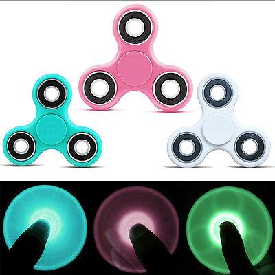 Luminous Hand Spinner Ceramic Finger Spin Stress Desk EDC Fidget Toy ADHD Autism