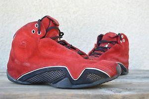 2006 Nike Air Jordan XXI 21 Italian Red Suede Ferrari Toro 4 5 14 ... 501570986