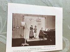 m17a7 book picture ephemera 1930s  b b c early t v studio