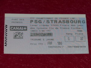 COLLECTION-SPORT-FOOTBALL-TICKET-PSG-STRASBOURG-24-MAI-1997-Champ-France