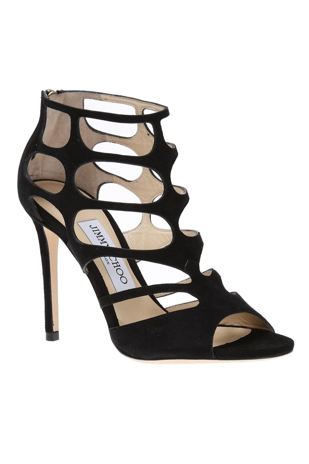 risparmia fino al 30-50% di sconto Jimmy CHOO nero nero nero scarpe sandali in pelle scamosciata misura 4.5 37.5  con il prezzo economico per ottenere la migliore marca