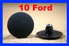 10 Ford Bonnet Capó Aislamiento Clips Sujetador Plástico Retenedor