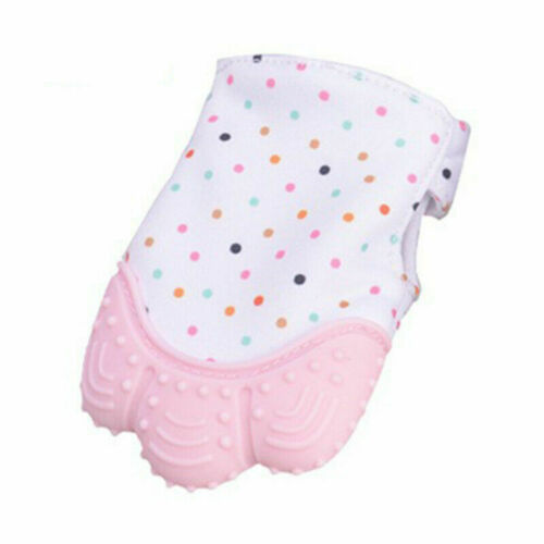 1PCS Baby Kids Silicone Teething Gloves Bites Chew Mitts Soft Safe Teether Beads